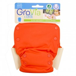 GroVia All-In-One Persimmon, knappar
