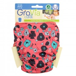 GroVia All-In-One Poppy, knappar
