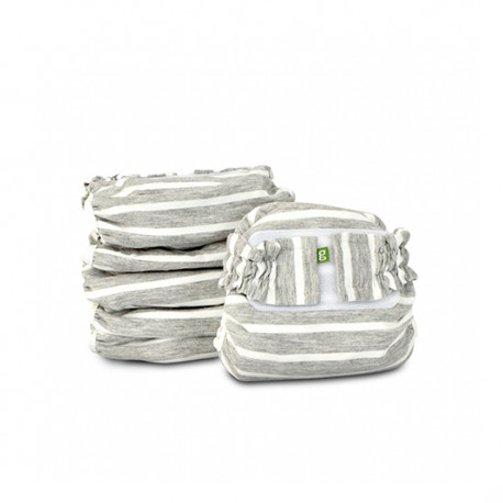 Grey and White striped Newborn gPants 6-pack