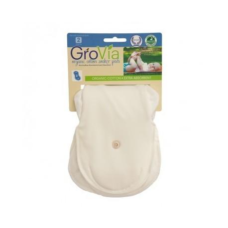 GroVia - inlägg i ekologisk bomull - 2-pack